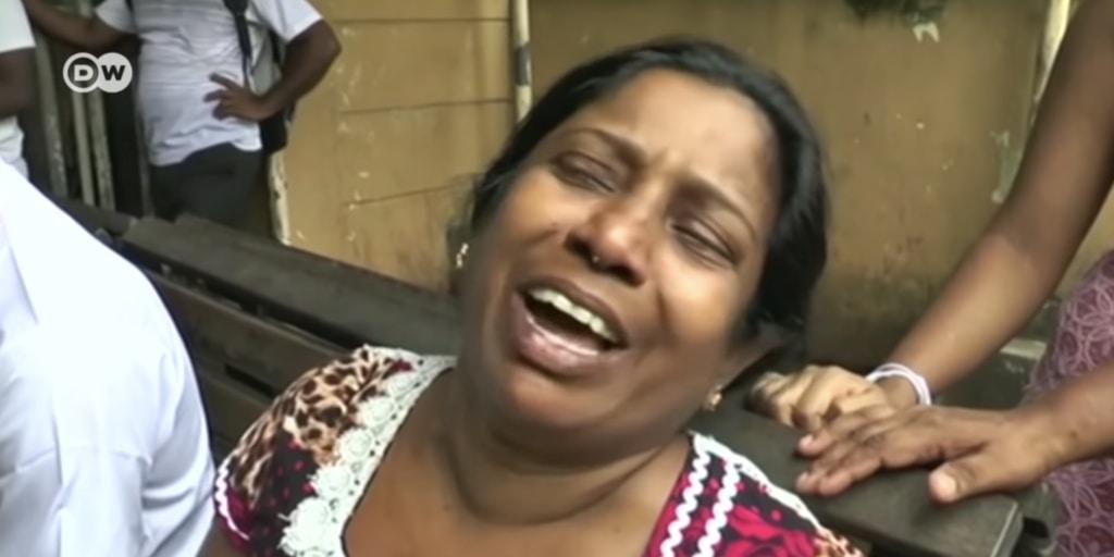Terrorist attack in Sri Lanka Screen Shot from DWNews