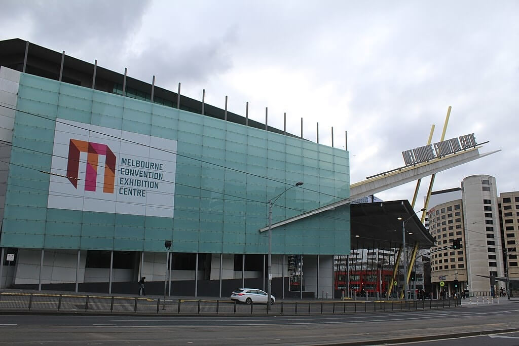 Melbourne Convention and Exhibition Centre (source: https://commons.wikimedia.org/wiki/File:Melbourne_Convension_and_Exhibition_center.jpg)