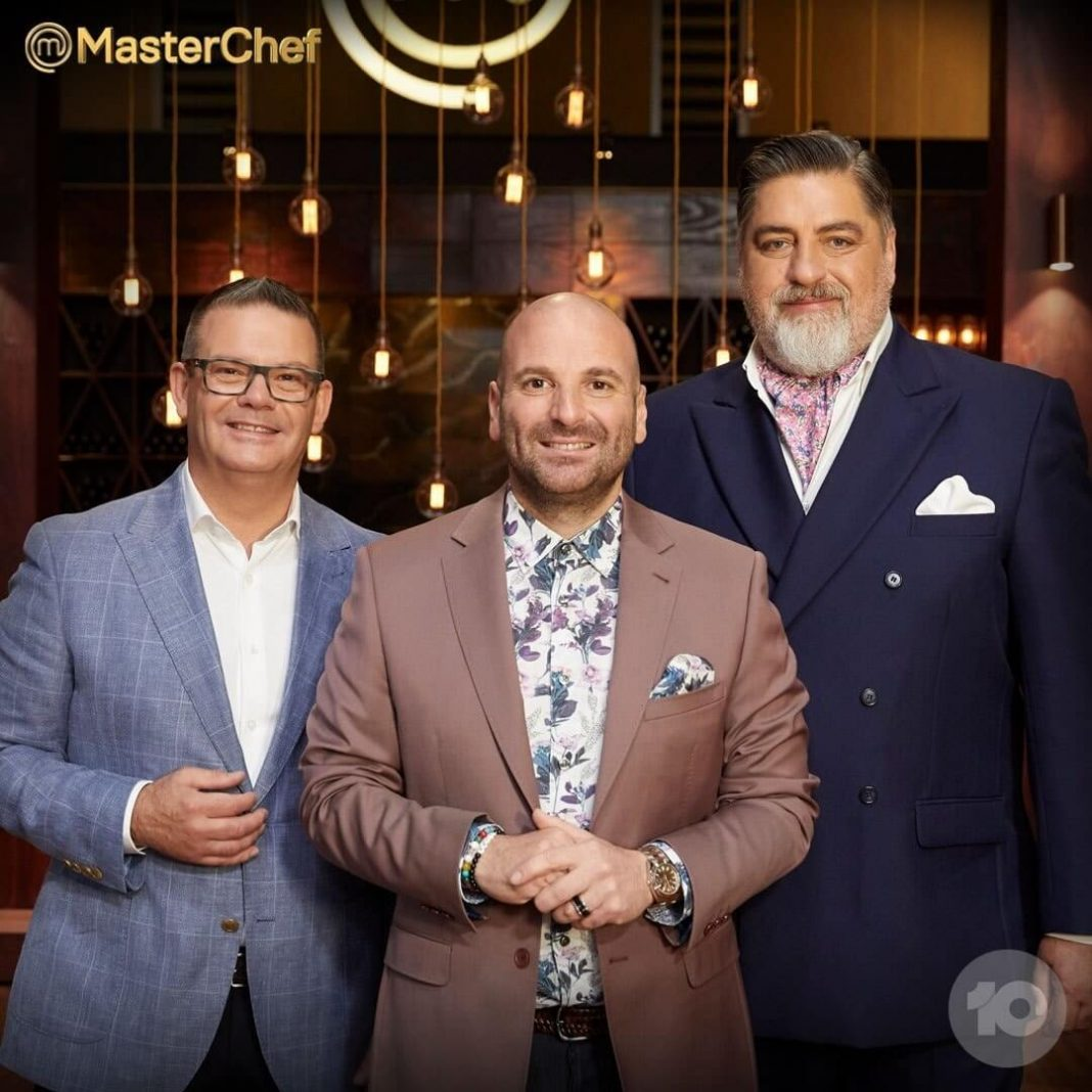 PHOTO: Mehigan, Calombaris and Preston have been judges on MasterChef Australia for 11 years. (Facebook: MasterChef Australia)
