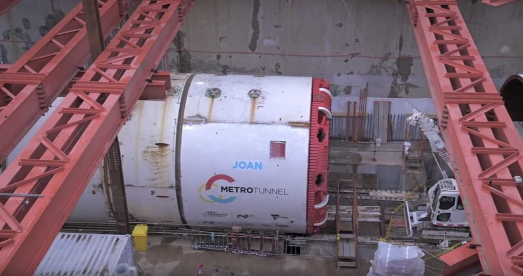 First tunnel boring machine named Joan