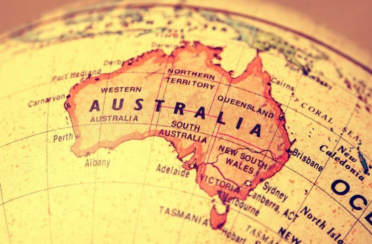 Map of Australia Photo from Shutterstock