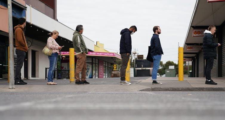Unemployment queue | Stefan Postles:AAP