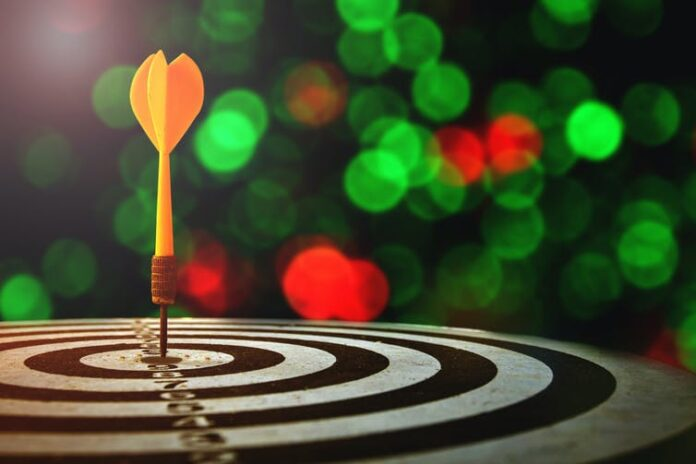 The odds of hitting your target goals is improved by building 'goal infrastructure'.   Photo from Shutterstock